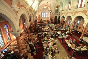 Occupy Sandy Relief Effort at St. Matthew St. Luke Episcopal. Photo by Reverend Tom Martinez.