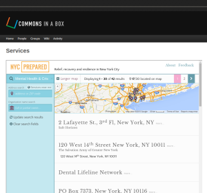 NYC:Prepared's Post-Sandy Recovery Resource directory can be embedded within the websites operated by NYC's volunteer disaster recovery networks.