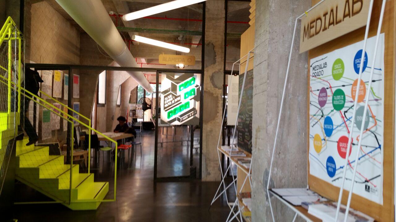 Medialab-Prado's lobby