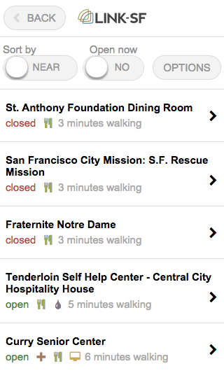 Link-SF shows important context about services at a glance.