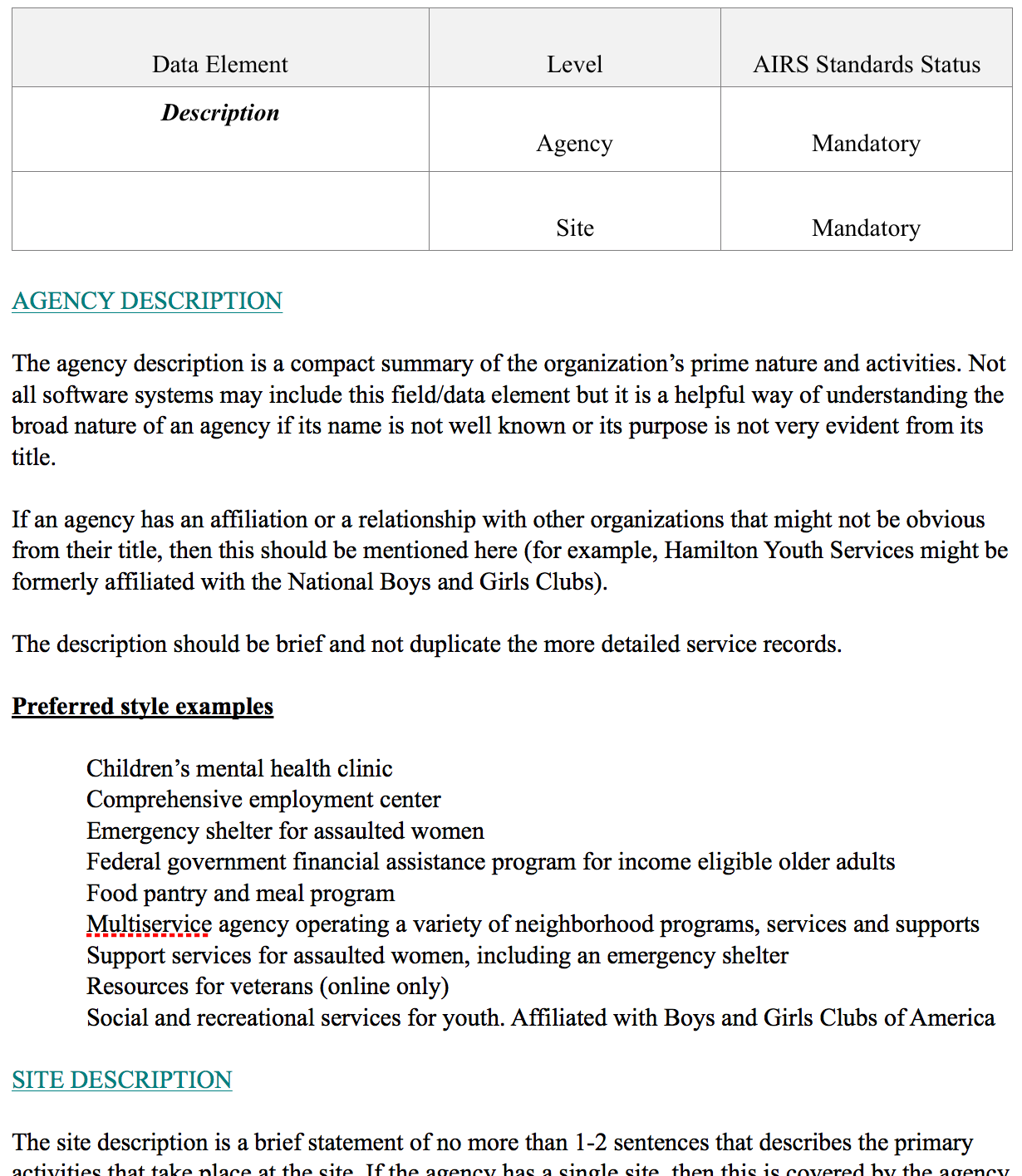 A section of the 2016 AIRS Style Guide, now open sourced!. Download the full document at: http://www.airs.org/styleguide
