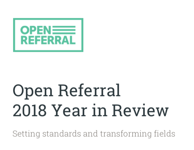 Open Referral's 2018 Year in Review