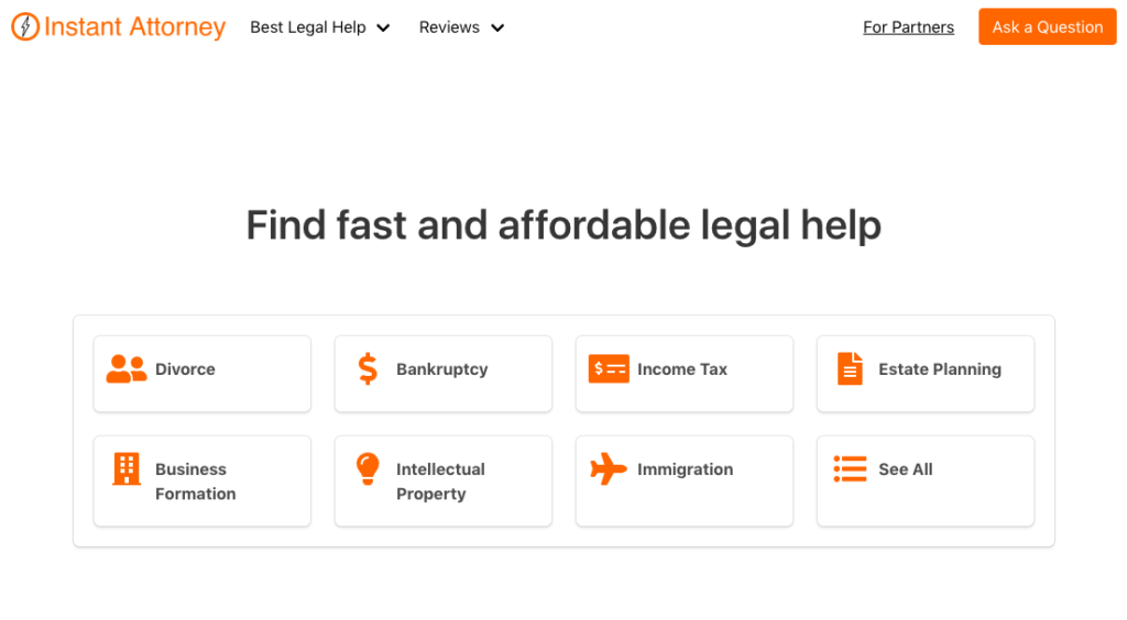 Instant Attorney - Find fast and affordable legal help