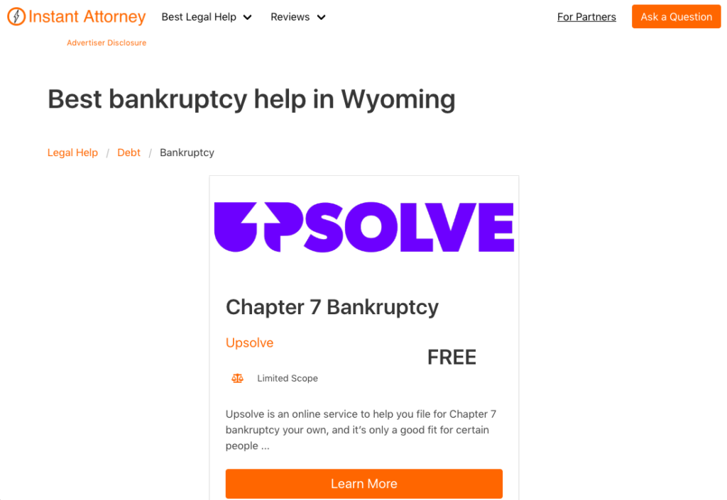 Best bankruptcy help near you - Instant Attorney